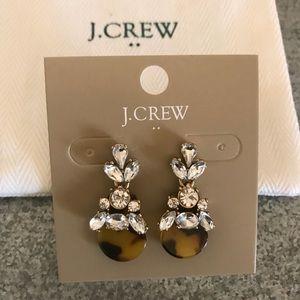 [J. Crew] Tortoise diamond dangle earrings